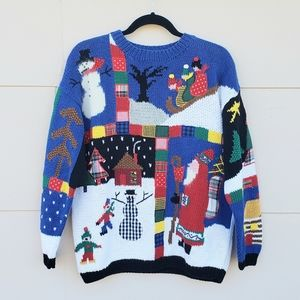Festive Christmas ugly knit sweater